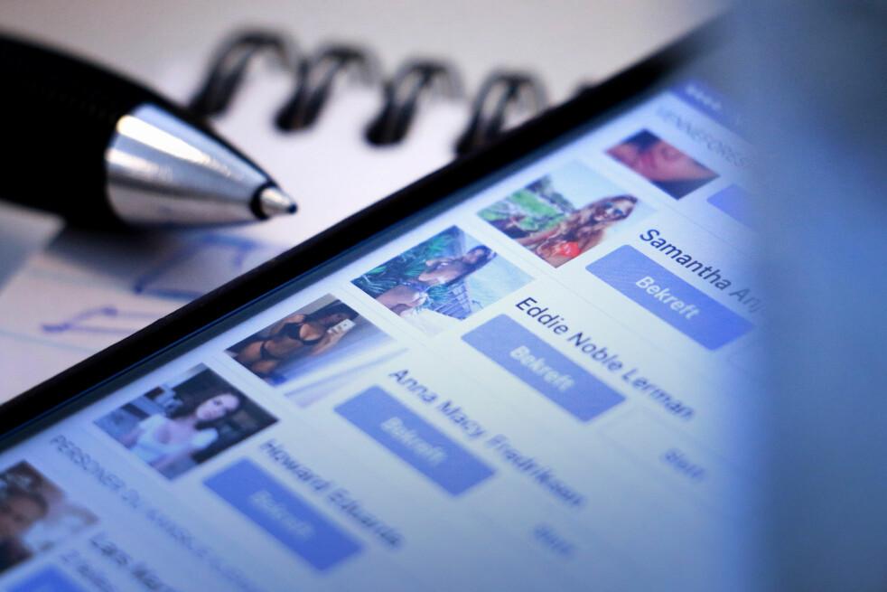 GJETT SELV: Om du skulle tatt en råsjanse og gjettet om disse Facebook-profilene er ekte eller falske, hva ville du tenkt? Foto: Ole Petter Baugerød stokke