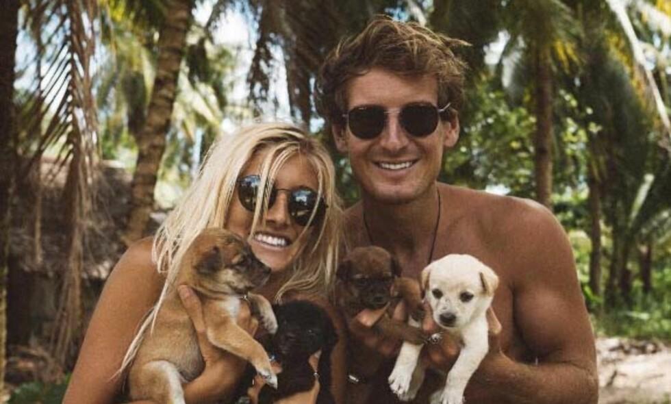 TJENER FETT PÅ REISING: Kjæresteparet Lauren Bullen (24) og Jack Morris (26) lever godt på egne Instagram-kontoer, og får betalt for å reise verden rundt. Foto: Jack Morris / Instagram