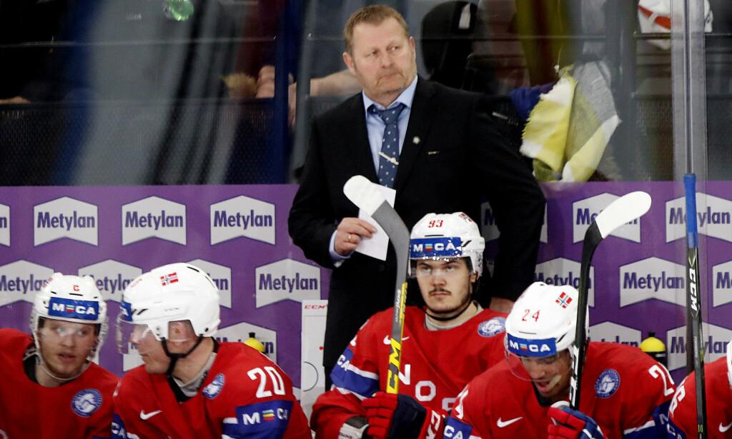 HAR IKKE GITT OPP: Landslagstrener i ishockey, Petter Thoresen. Foto: Lise Åserud / NTB scanpix