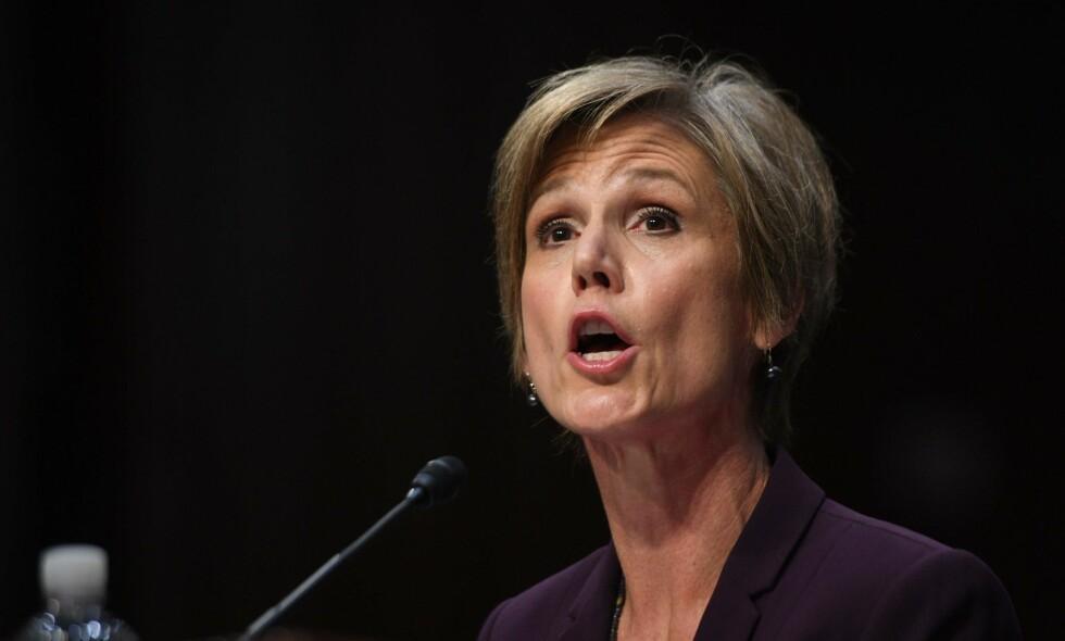 FORKLARTE SEG: Sally Yates. FOTO: AFP PHOTO / JIM WATSON/NTB Scanpix