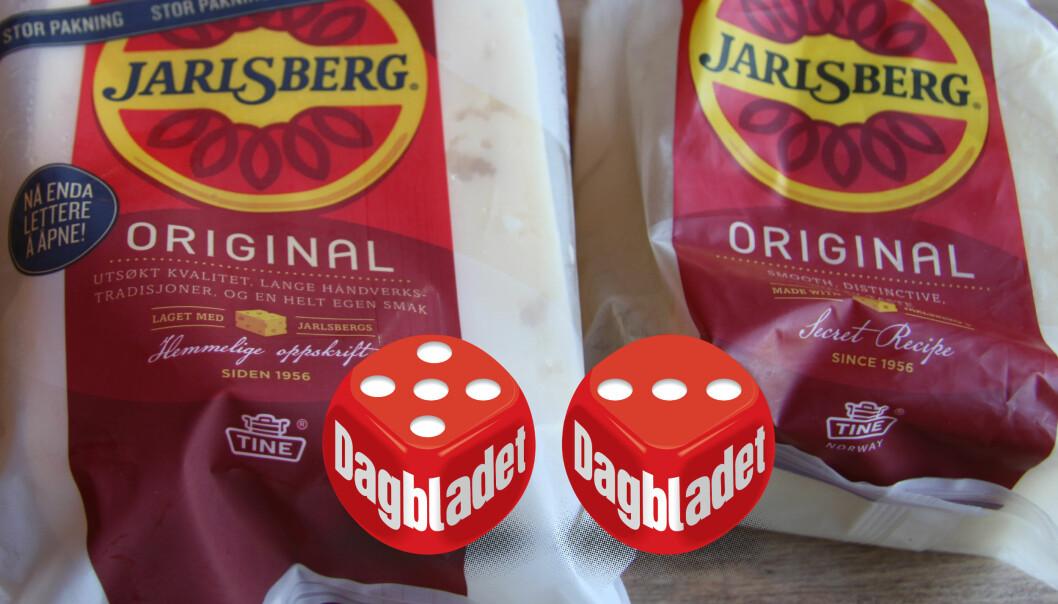 <strong>JARLSBERG-OST:</strong> Våre eksperter mente at forskjellen på Jarlsberg-osten produsert i Norge (til venstre) versus i Irland var markant. Foto: Lars O Gulbrandsen