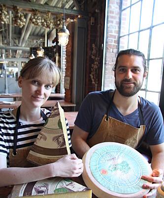 OSTEEKSPERTER: Anya Mouhat og Thibaut Girardet (Foto: Lars O Gulbrandsen)