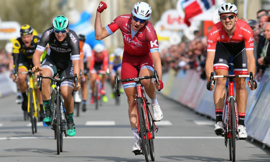 STILLER HØYE KRAV: Alexander Kristoff vant en etappe under tredagersrittet i De Panne, men sto ikke på podiet etter Milano-Sanremo eller Flandern rundt. FOTO: Tim De Waele/TDWSPORT.COM
