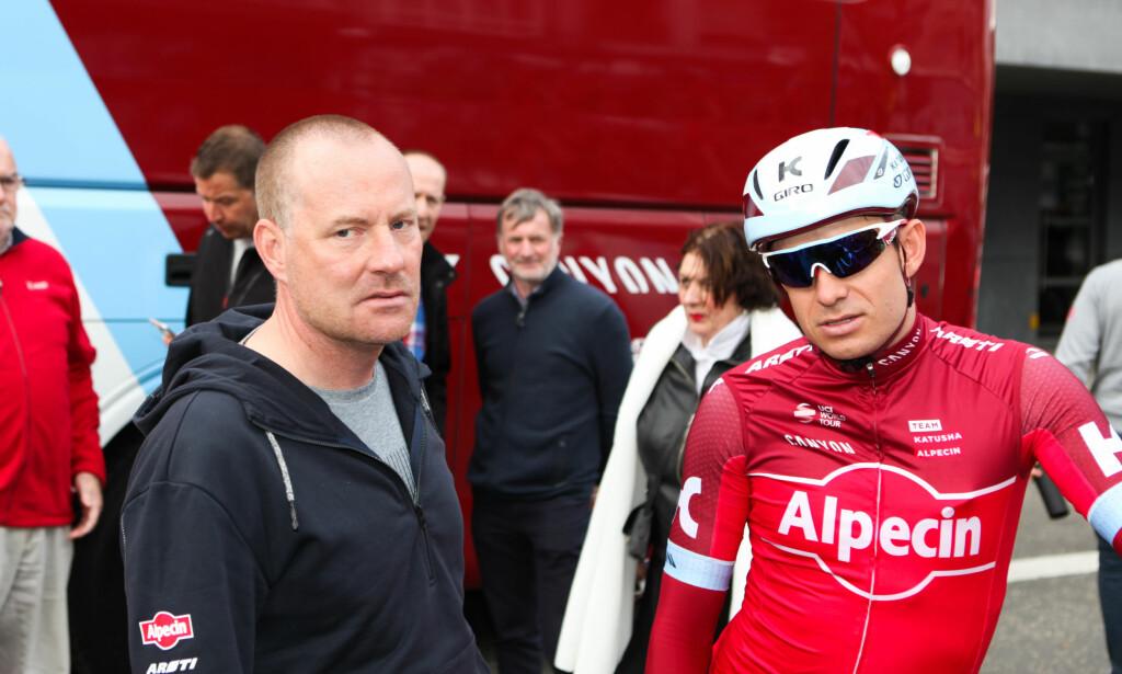 SPILL FOR GALLERIET? Torsten Schmidt, sportsdirektør i Katusha, har ikke bare vært glad for nordmannens avgjørelser denne sesongen. FOTO: Kjetil Rakkenes Anda, procycling.no