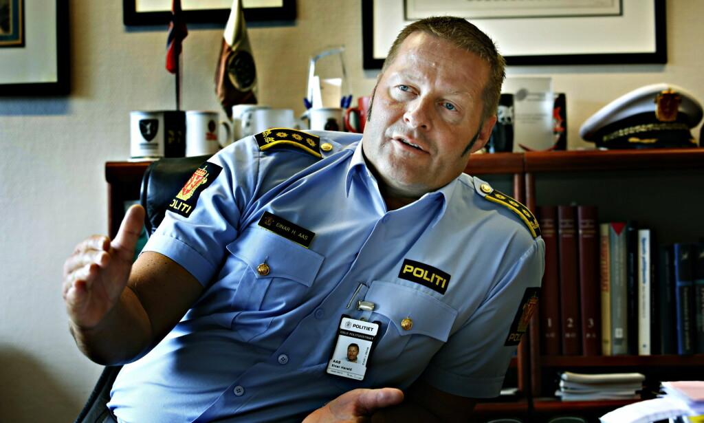 BEKYMRET: Politiinspektør Einar Aas, sjefen for seksjonen for organisert kriminalitet ved Oslo politidistrikt, er bekymret over utviklingen av organisert kriminalitet i Norge. Foto: Lars Eivind Bones / Dagbladet