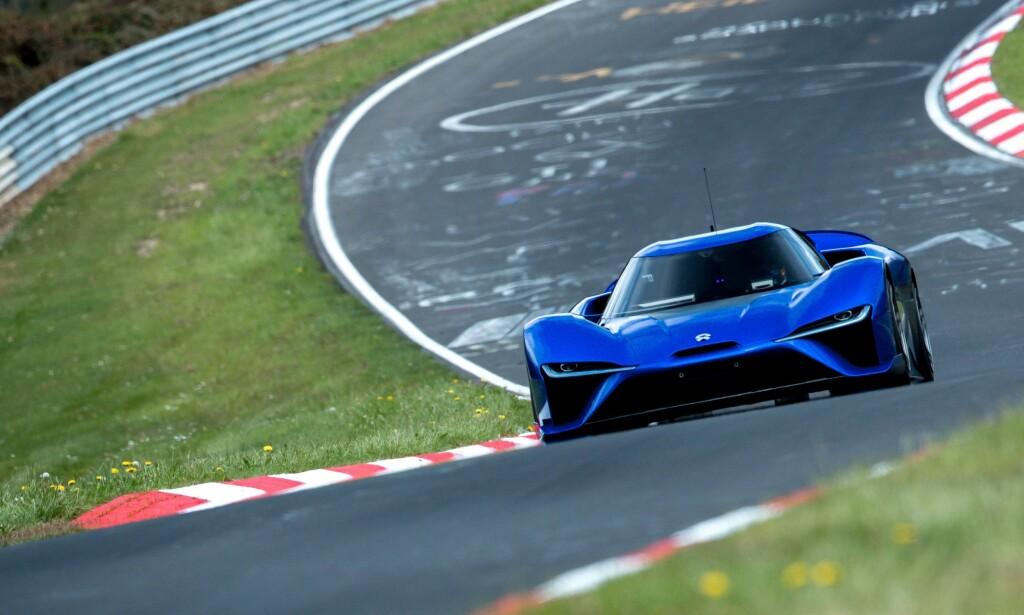SLO DEM ALLE: En elbil måtte til for å velte Radical fra Pidestallen på toppen av listen over de beste rundetidene på Nürburgrings nordsløyfe. Foto: NIO