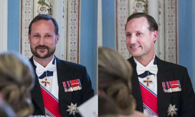 FORANDRING: Kronprins Haakon ankom den storslåtte gallamiddag med skjegg, men dro hjem uten. Foto: Heiko Junge / NTB scanpix
