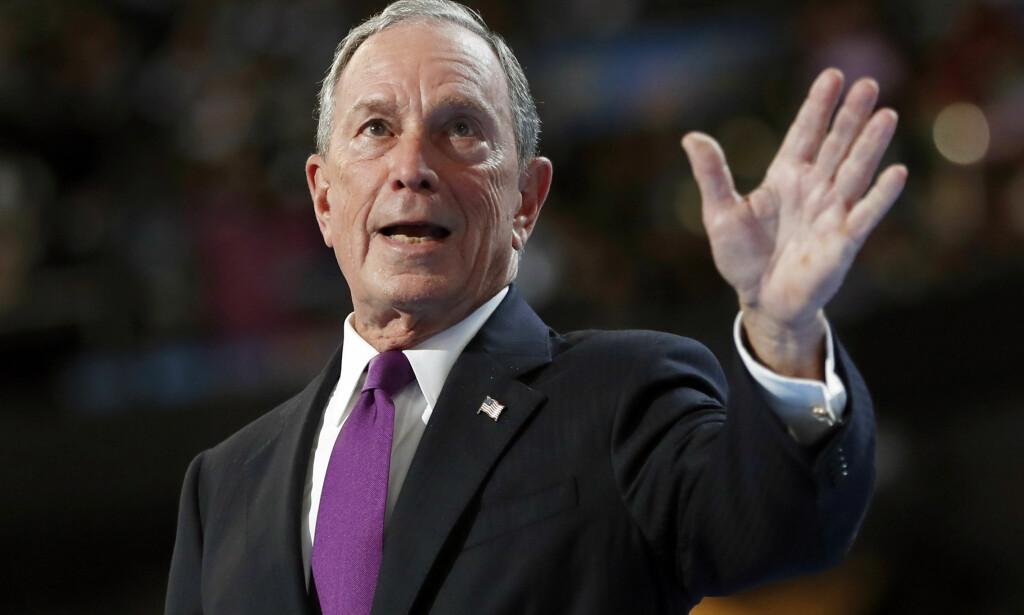 VURDERER Å STILLE: Tidligere New York-ordfører og forretningsmann Michael Bloomberg, vurderer å stille til valg som president i USA. Foto: AP Photo/Carolyn Kaster, File