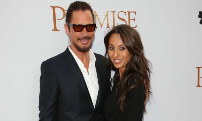 FIKK TO BARN SAMMEN: Chris Cornell giftet seg med Vicky Karyiannis i 2004. Før det var han gift med manageren til Soundgarden, Susan Silver. Foto: NTB scanpix