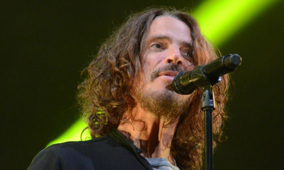 DØD: Artist og låtskriver, Chris Cornell, skal ha tatt sitt eget liv. Her avbildet under en konsert med bandet Soundgarden 13. mai. Foto: Rex / NTB scanpix