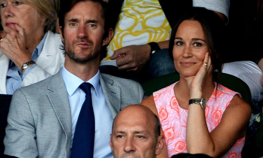 MANN OG KONE: James Matthews og Pippa Middleton blir lørdag rette ektefolk. Foto: NTB Scanpix