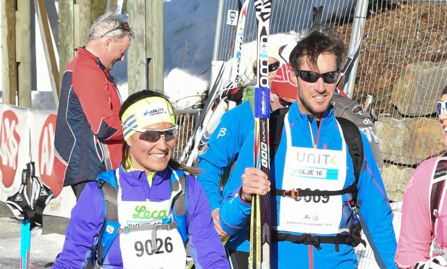 FRILUFT: Pippa og James besøkte Norge i 2016, der de deltok i Birkebeiner-rennet på Lillehammer. Begge gjennomførte på nærmere seks timer. Foto: NTB Scanpix