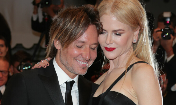 VARME FØLELSER: keith Urban og Nicole Kidman på «The Killing Of A Sacred Deer»-premieren i Cannes mandag 22. mai. Foto: Canio Romaniello/SilverHub/REX/Shutterstock/ NTB scanpix