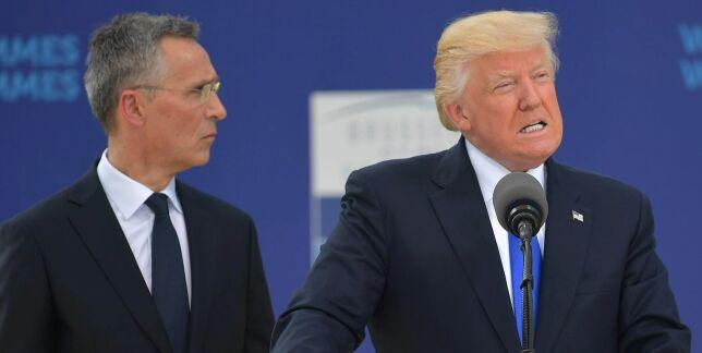 image: NATO-lederne sto skolerett mens Trump refset dem for kronisk underfinansiering: - Ikke rettferdig
