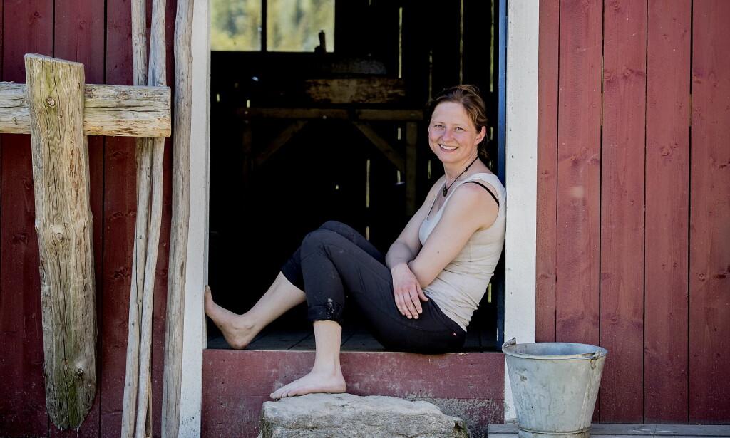 NY MANN: Tv-profil Inga Berit Lein (36) har fått ny kjæreste. Her fra innspillingen av «Farmen kjendis» i fjor sommer. Foto: Bjørn Langsem / Dagbladet