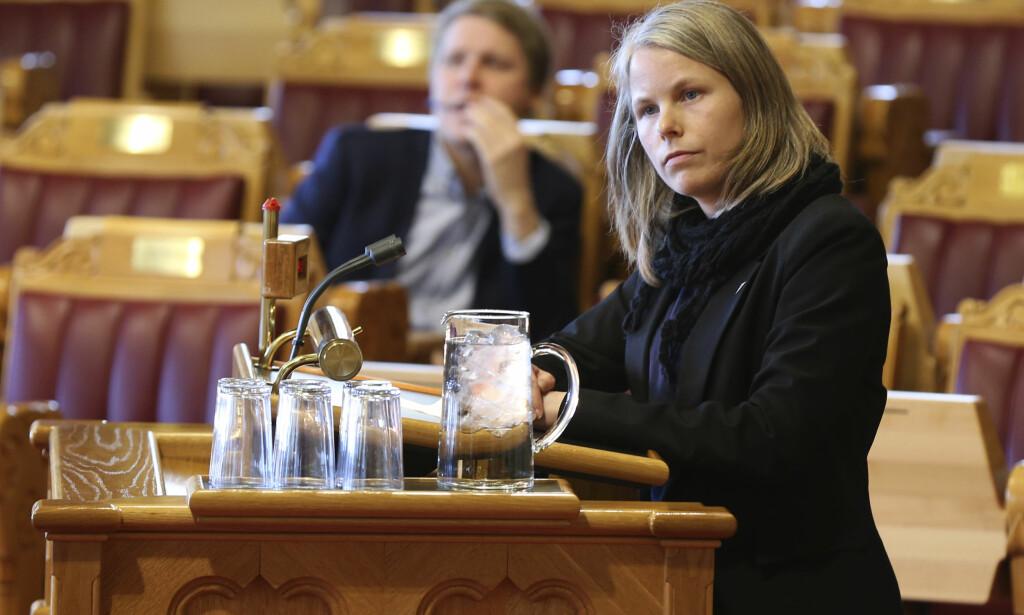 SV: Kirsti Bergstø (SV) i arbeids- og sosialkomiteen på Stortinget. Foto: Vidar Ruud / NTB scanpix