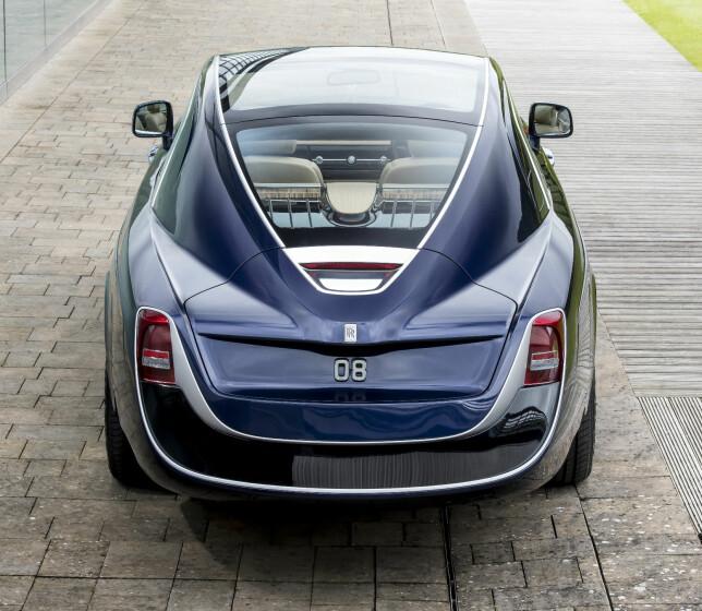 STRØKEN STJERT: Sweptail-navnet er en direkte referanse til fasongen på den unike Rollsens hekk som er strukket bakover og avrundet. Foto: Rolls-Royce