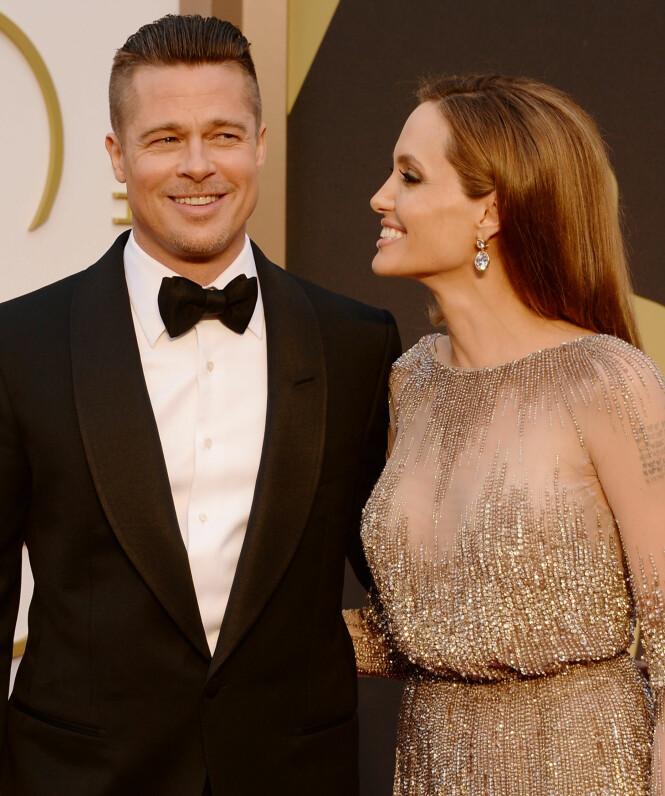 TOK SLUTT: Brad Pitt og Angelina Jolie fremsto som et solid par i offentligheten, men i 2016 gikk de hver til sitt. Foto: Carl Court / NTB scanpix