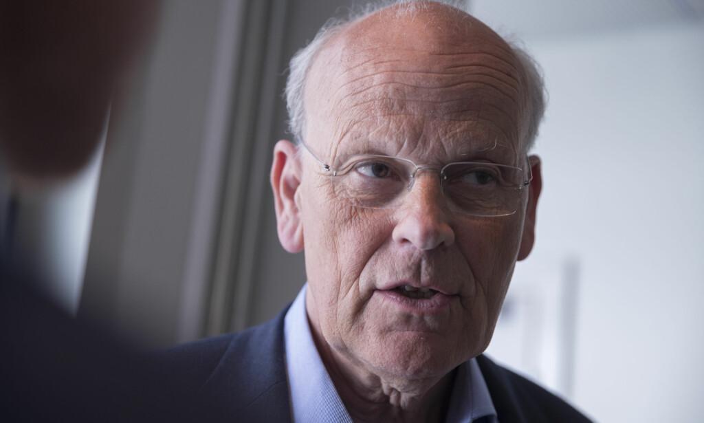 KRITIKER: Høyre-representant Michael Tetzschner slo allerede i debatten om Riksrevisjonens rapport om byggesaken fast at kostnadsrammen ikke ville holde. Foto: Vidar Ruud / NTB scanpix