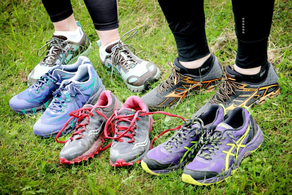TEST AV TERRENGSKO: Vi har testet fem joggesko for terrengløping på sti og grus - og her er det veldig mange bra sko! Foto: Ole Petter Baugerød Stokke