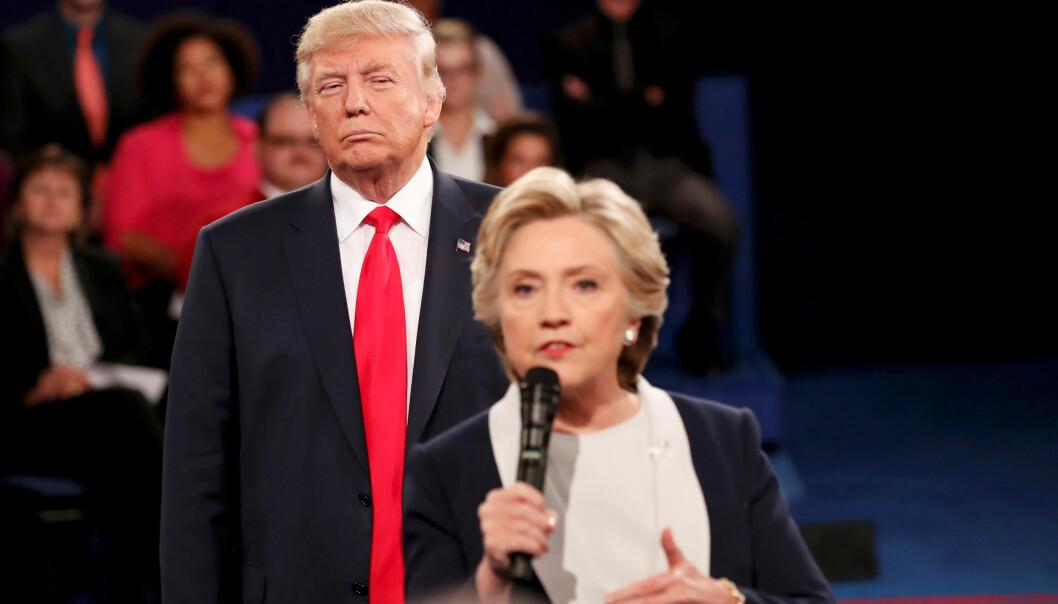 <strong>OPPFORDRER TIL OMKAMP:</strong> På Twitter oppfordrer Donald Trump motstanderen fra 2016-valget, Hillary Clnton, til omkamp. Foto: Rick Wilking/reuters/Scanpix