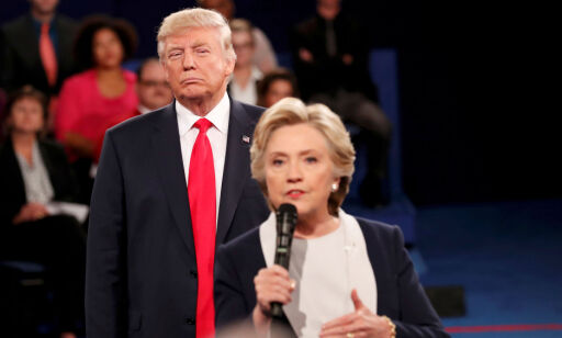 image: Donald Trump utfordrer Hillary Clinton til å stille til valg i 2020