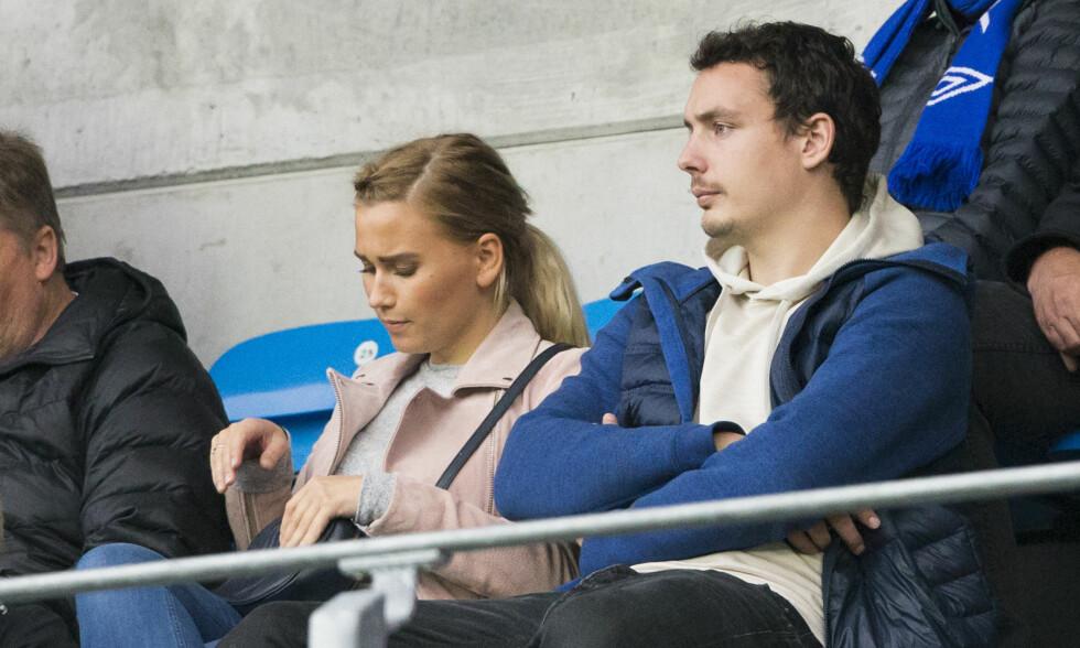 RINGSIDE: Vegard Forren var på plass med følge da Molde slo Stabæk 3-1 i helga. Foto: Svein Ove Ekornesvåg / NTB scanpix