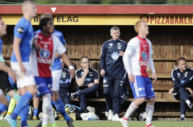 VIDERE I CUPEN: Ole Gunnar Solskjær og Molde kom til Ekebergsletta for avansement. Og det klarte de. Foto: Berit Roald / NTB scanpix