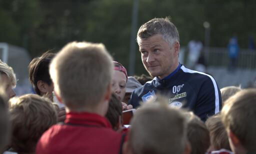 POPULÆR: Solskjær var en ettertraktet mann etter cupkampen. Foto: Berit Roald / NTB scanpix