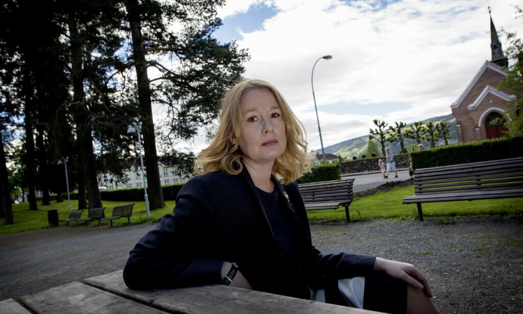 MENINGSSTERK: Kulturredaktør i Aftonbladet, Åsa Linderborg, holdt foredrag på litteraturfestivalen på Lillehammer torsdag. Foto: Anita Arntzen / Dagbladet