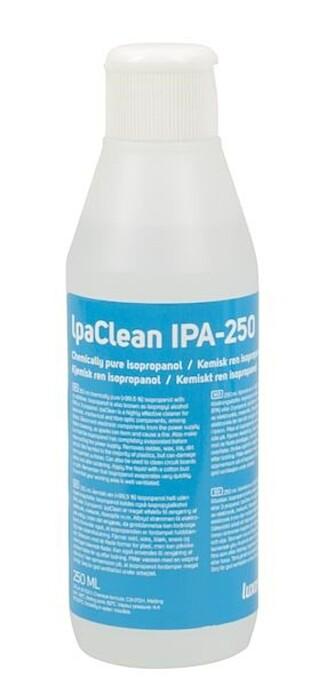 Isopropanol med renhet på 99% eller høyere er et utmerket middel for å rense kulelageret på en spinner. Foto: Kjell & Company