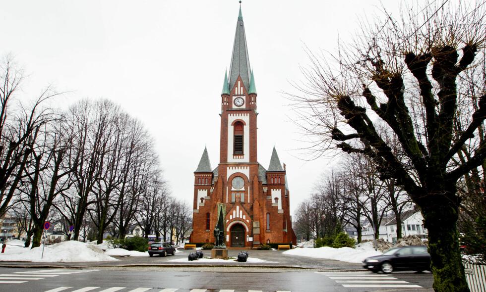 SKAPER IRRITASJON: Ikke alle naboene setter pris på det nye klokkespillet i Sandefjord kirke. Arkivfoto: Vegard Wivestad Grøtt / NTB scanpix