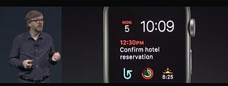 <strong>MER VARIASJON:</strong> Med nye watchOS 4 som kommer til høsten vil du få flere klokkefronter å velge blant. Skjermdump: Apple