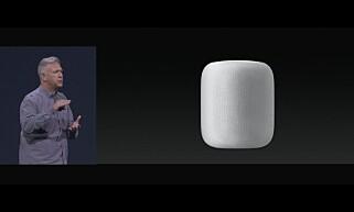 SYLINDER: Slik ser Apples nye smarthøyttaler ut. Skjermdump: Apple