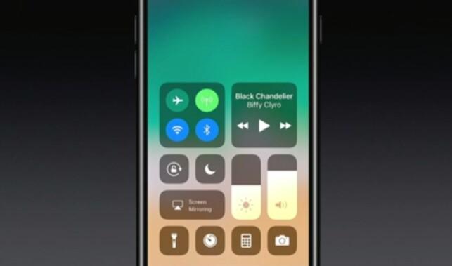 ENKEL: Store ikoner i et enkelt oppsett. Flere funksjoner er tilgjengelig ved å bruke 3D Touch. Skjermdump: Apple