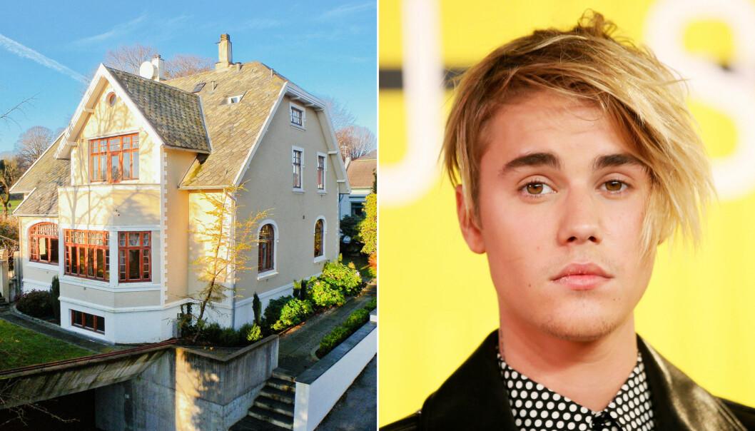 HER BOR HAN: Det er i dette huset Justin Bieber skal oppholde seg mens han er i Stavanger. Foto: Se og Hør / NTB scanpix