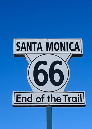 REISENS SLUTT: Når du kommer til havet i Los Angeles, er veien slutt. Foto: Shutterstock / NTB Scanpix