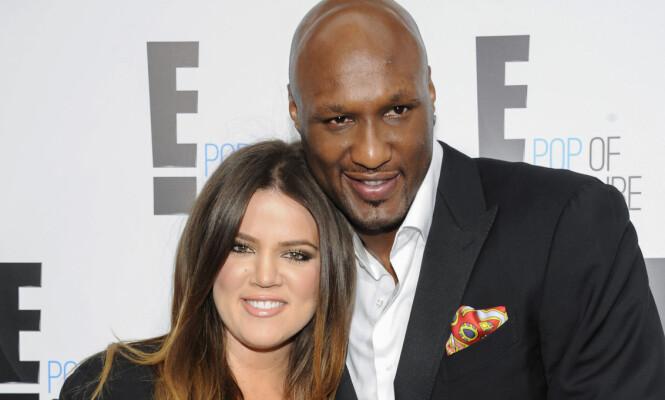 <strong>LYKKEN BRAST:</strong> Realitystjernen Khloé Kardashian og basketballspilleren Lamar Odom var gift i fire år før de gikk hver til sitt. Foto: NTB scanpix