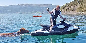image: Her redder Tor Arne (43) ku med vannscooter