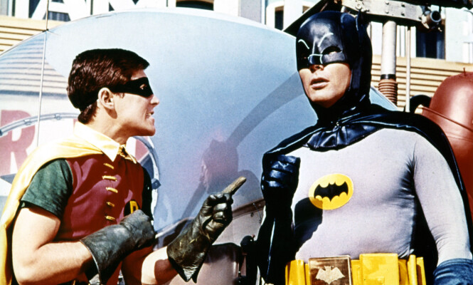 <strong>IKONISK:</strong> West spilte Batman på 1960-tallet. Her er han i rollen i 1996. Foto: NTB scanpix, Mary Evans Picture&nbsp;