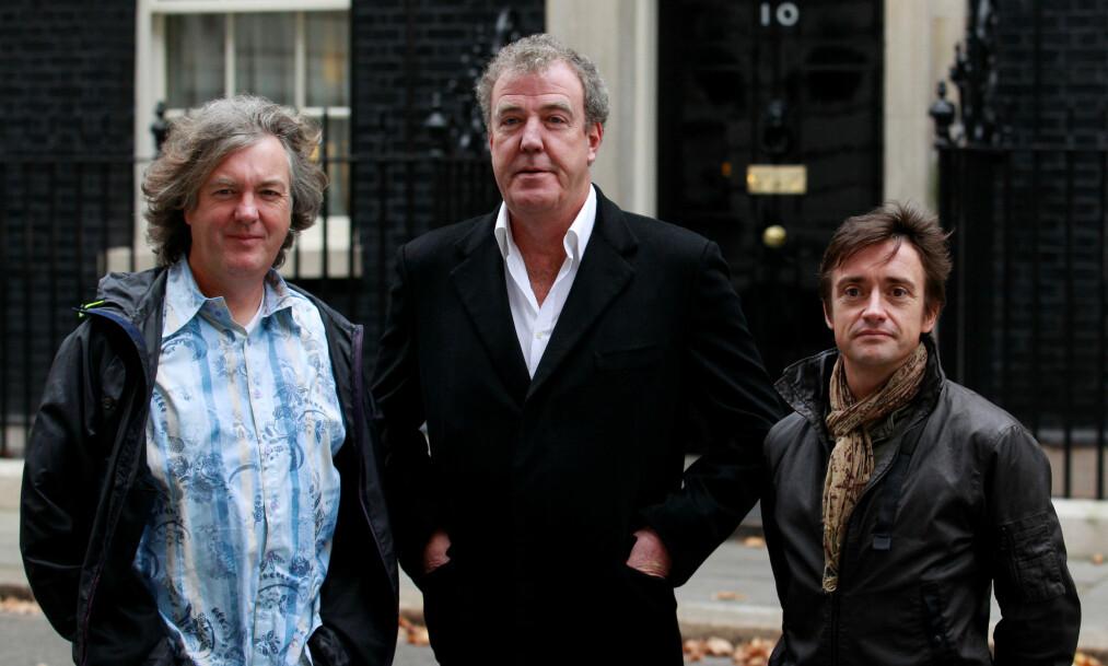 <strong>FRYKTET DET VERSTE:</strong> James May (t.v) og Jeremy Clarkson ble lettet da de så at Richard Hammond overlevde det alvorlige bilkrasjet i Sveits. Foto: NTB scanpix