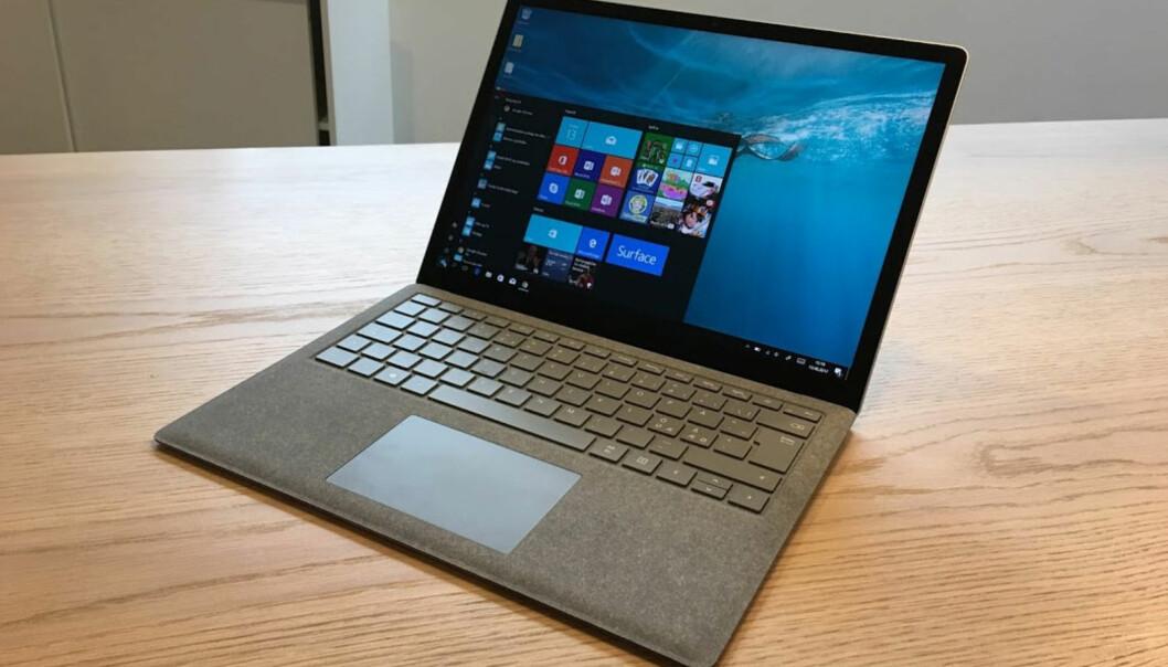 <strong>RENT OG PENT:</strong> Microsoft Surface Laptop er en meget god maskin som bør vurderes av alle som er ute etter en lett og solid PC med god batteritid. Foto: Bjørn Eirik Loftås