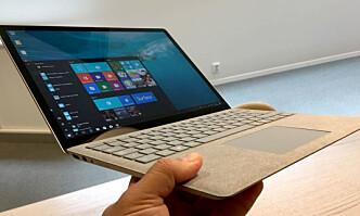 <strong>TYNN OG LETT:</strong> Microsoft Surface Laptop. Foto: Bjørn Eirik Loftås