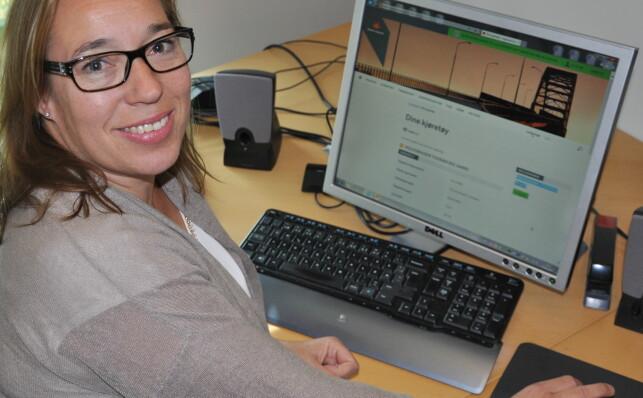 MEST BEKYMRET FOR SERVERNE: Seksjonsleder ved kontor for kjøretøygodkjenning og registrering i Vegdirektoratet, Heidi Øwre. Foto: Vegvesenet