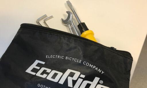 FØLGER MED: Også verktøyet har EcoRide tenkt på. Foto: Tore Neset