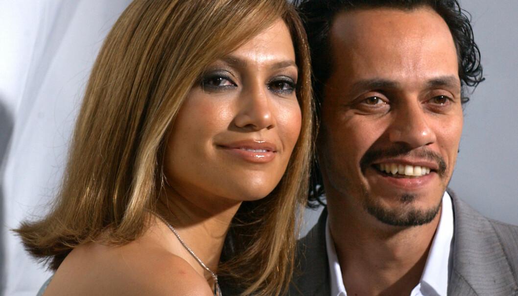 VAR GIFT: Jennifer Lopez og Marc Anthony har tvillingene Max og Emme sammen. Foto: AP / NTB Scanpix