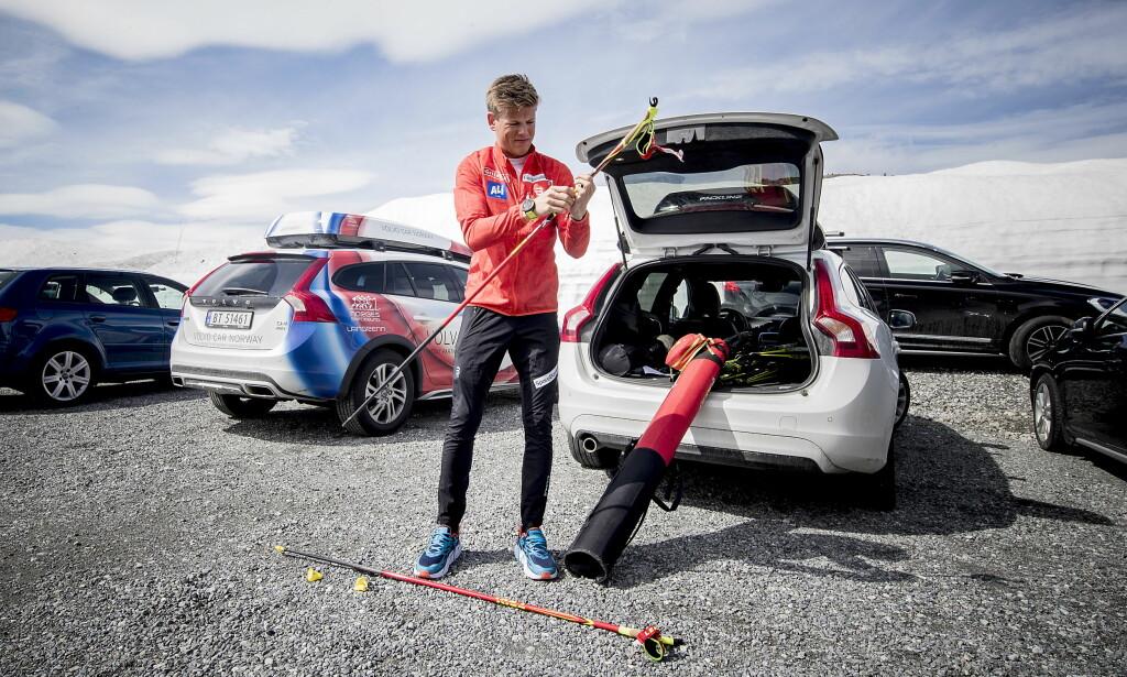 ROLIG: Til tross for Magnus Moans advarsel, er ikke Johannes Høsflot Klæbo bekymret for at høye forventninger og press vil gå på bekostning av utviklingen. Foto: Bjørn Langsem / Dagbladet