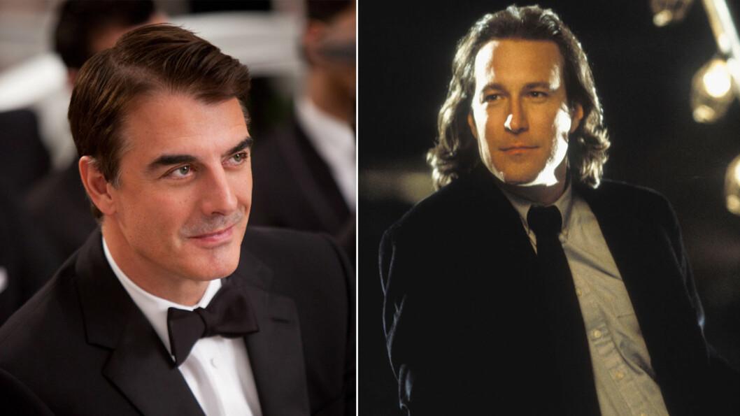 EXENE TIL CARRIE: Carries første og andre kjærlighet var Mr. Big (Chris Noth) og Aidan  Shaw (John Corbett). Men hvordan ser egentlig skuespillerne ut i dag?  Foto: NTB Scanpix