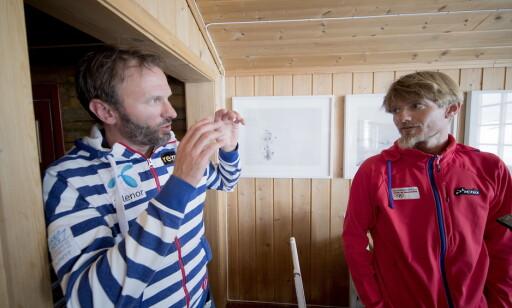 HJERNENE BAK: Forskerne Jan Kocbach (t.h.) og Matthias Gilgien står bak langrennslandslagets nye eksperiment. Foto: Bjørn Langsem / Dagbladet