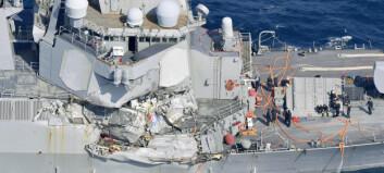 Sju amerikanere savnet etter at amerikansk krigsskip krasjet